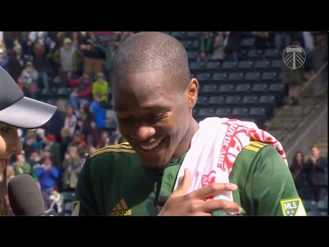 Video: Darlington Nagbe | Timbers 2, Whitecaps 1 | Postgame - Apr. 22, 2017