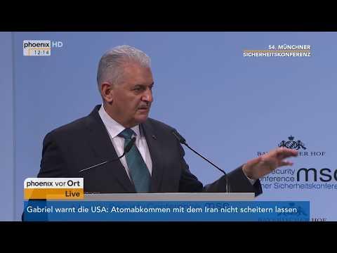 Rede von Binali Yildirim bei der 54. Münchner Siche ...
