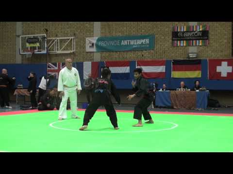 Pencak Silat – Indonesia VS Malaysia – Belgium Open 2013 – Highlights