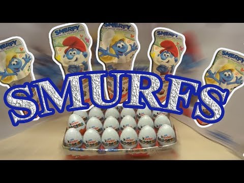 SMURFS: THE LOST VILLAGE 44 Kinder Surprise Eggs Unboxing Video 2017 (eng Subtitles)