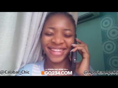 comedy video: AphricanApe ft. Calabar Chic - When You'Re On The Phone With Your Calabar Babe