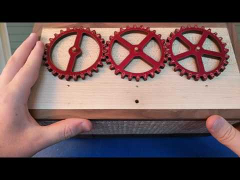 Son gives a walk thru of his ingenious custom built puzzle box for his dad