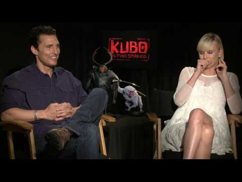 'Kubo and the Two Strings'  Official Movie Interview with Matthew McConaughey & Charlize Theron