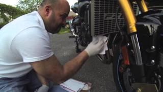8. 2011 Yamaha FZ8 Header Pipe Cleaning