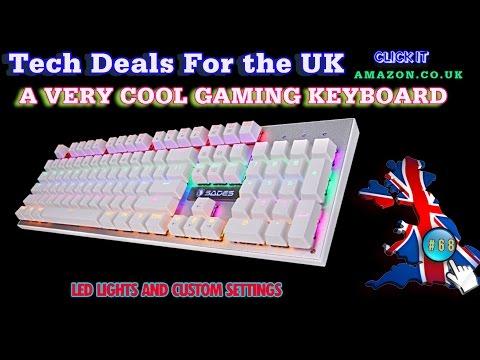 Tech Checker #68 White Sades Gaming Keyboard PC & MAC ( K10 )