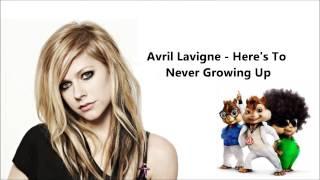 Video Avril Lavigne - Here's To Never Growing Up (Chipmunk version) + Lyrics MP3, 3GP, MP4, WEBM, AVI, FLV Agustus 2018