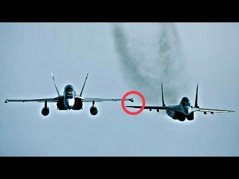 F 18 Intercept Mig 29, Real Dogfight