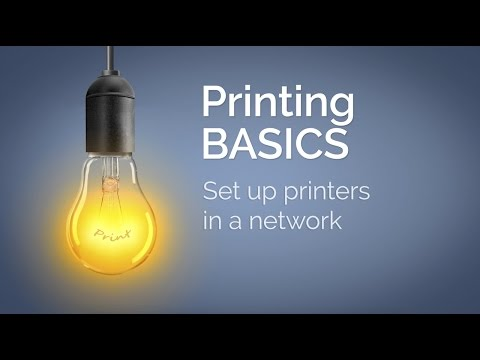 How to set up printer for a network (01)