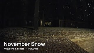 Northwest Chicago November Snow Time Lapse