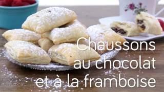 Chaussons au chocolat et à la framboise