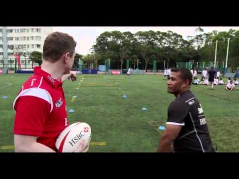 Brian O'Driscoll takes on Waisale Serevi