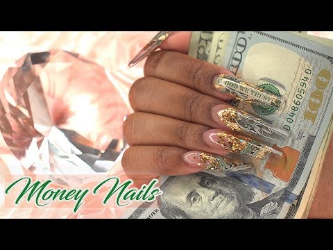 PAYDAY! Money Nails  Encapsulated Acrylic Nails  LongHairPrettyNails