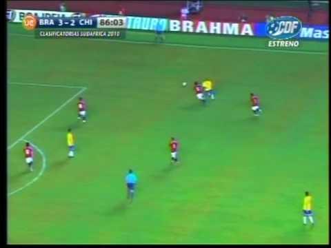 Waldo Ponce Eliminatorias Sudáfrica 2010 Chile vs Brasil