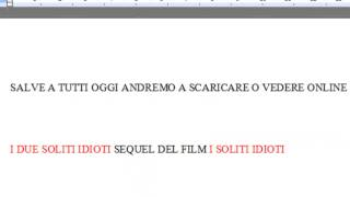 FILM I DUE SOLITI IDIOTI SCARICA O STREAMING
