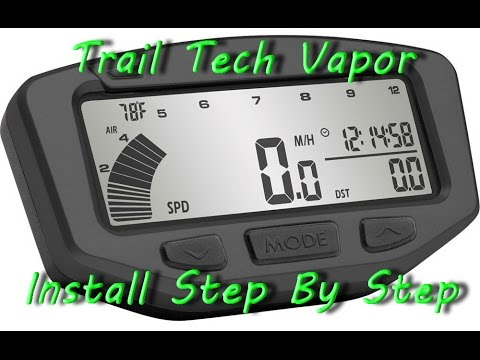 Trail Tech Vapor Computer on dirt bike Step by Step installation