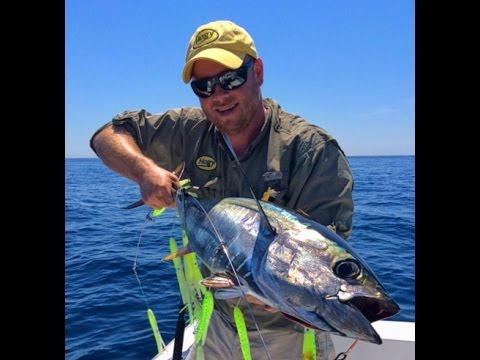 pesca al tonno con calamari finti