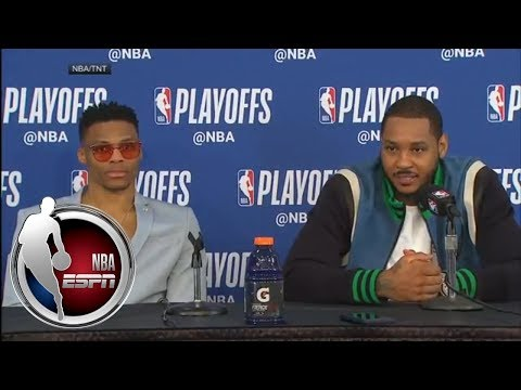 [FULL] Russell Westbrook on Game 1 win over Jazz: '15 more wins to go' | NBA on ESPN