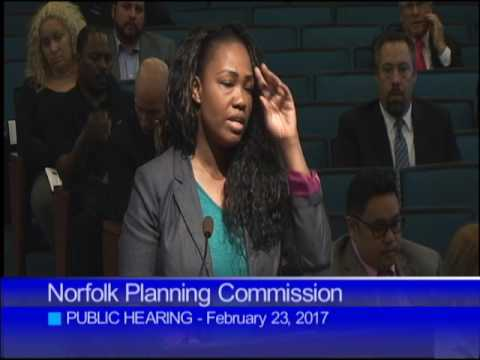 02-23-17 Norfolk Planning Commission Public Hearing
