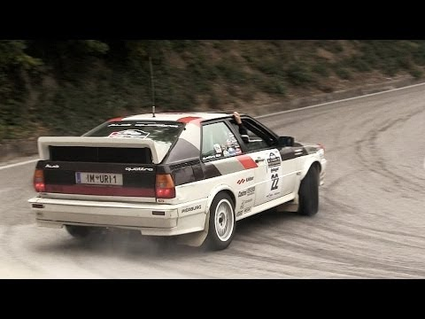 audi quattro rally drift & sound