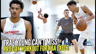 Trae Young Pro Day Pre-Draft Workout For 100+ NBA Execs!! He Can't Miss!!