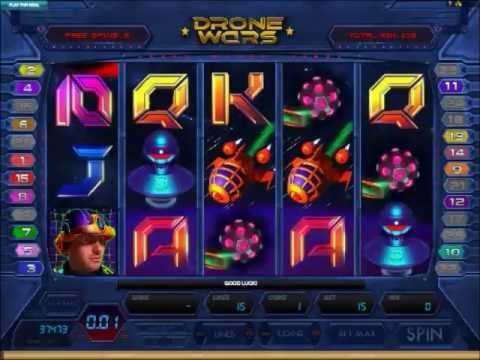 Drone Wars Slots with Bonus and Free Spins Wins