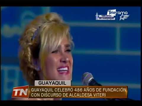 Guayaquil celebró 486 años de fundación con discurso de alcaldesa Viteri