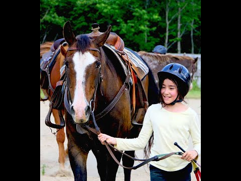 2018 Algonquin Park Children's Summer Horse Camp, trail ride near Algonquin Park Ontario!
