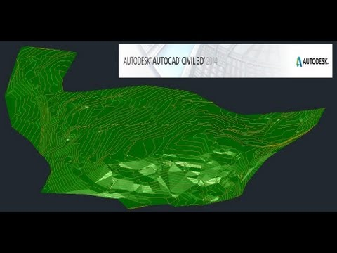 Civil 3D 2014 (6/12): Creación de Superficies a partir de Polylines