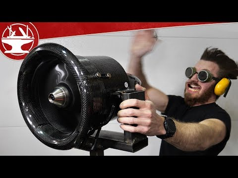 $5000 Electric JET ENGINE (Flying like Iron Man Update)