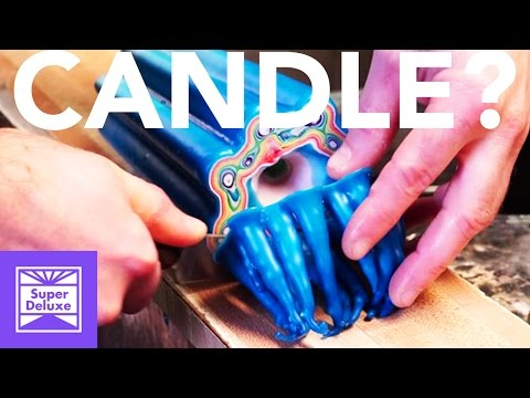Creating Colourful Candle Carvings