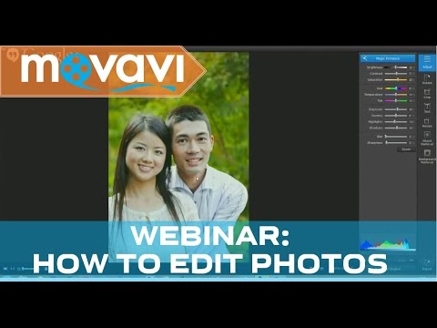 Photo Editing and Retouching in Photo Editor 2 - Webinar by Movavi
