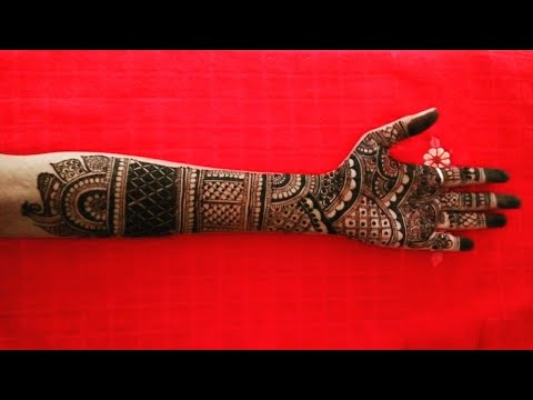 beautiful full hand bridal mehndi design