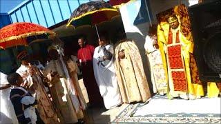 Closing Prayer By Father Nahusenay At Abune Aregawi Ethiopian Orthodox Church