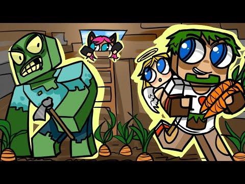 ч.12 Фермер Мутант и Подземная ферма морковки - Minecraft Страшные приключения
