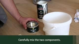 Rubio Monocoat: Oil Plus 2C application on floors - polishing machine
