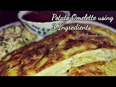Potato Omelette   Only 3 Ingredients   Easy Breakfast Recipe   Kids tiffin Box Idea   Millennials
