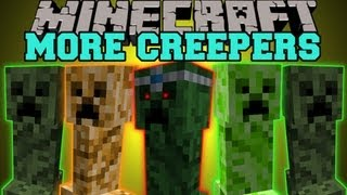 Minecraft: MORE CREEPERS! (CREEPER QUEEN BOSS, PYRO CREEPER AND MORE!) Creeper Queen Mod Showcase