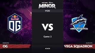 [RU] OG vs Vega Squadron, Game 2, EU Qualifiers, StarLadder ImbaTV Dota 2 Minor
