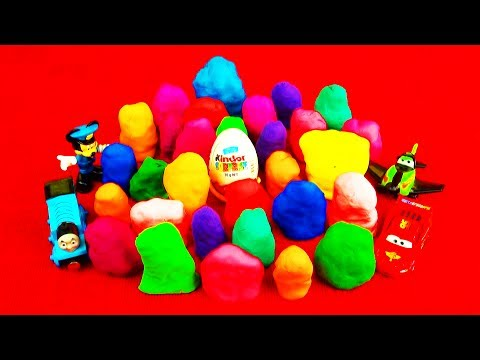 my little pony - Hello! 30 surprise eggs! Play-doh toy surprises! Toy battle story at the end. Featuring play doh Kinder Surprise egg toys, Disney Pixar Cars 2, MLP My Little...