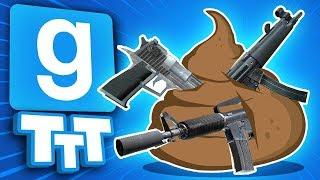 HE CAN POOP GUNS? | Gmod TTT