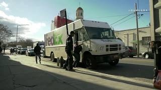 Fedex Truck Hits Pedestrian, Fights w/ Knife & Pipes