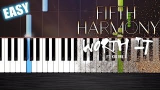 Fifth Harmony - Worth It ft. Kid Ink - EASY Piano Tutorial  Ноты и МИДИ (MIDI) можем выслать Вам (Sh