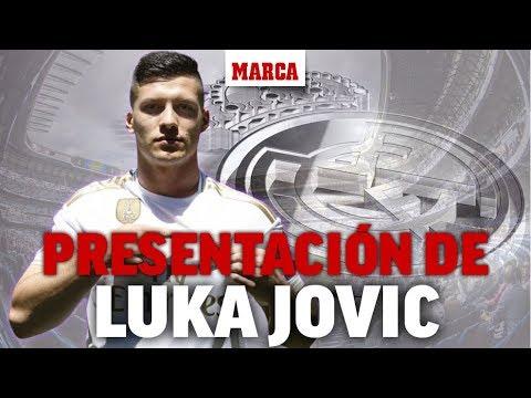 Presentación de Luka Jovic como jugador del Real Madrid, en directo  I Fichajes 2019 - MARCA