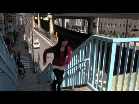 「歩道橋ばしり」ホットパンツで美少女が全力疾走 ~栗原ちゃん~