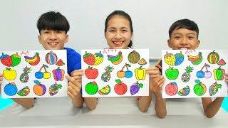 10 fresh fruits, Warna Warni Belajar Menggambar dan Mewarnai untuk Anak