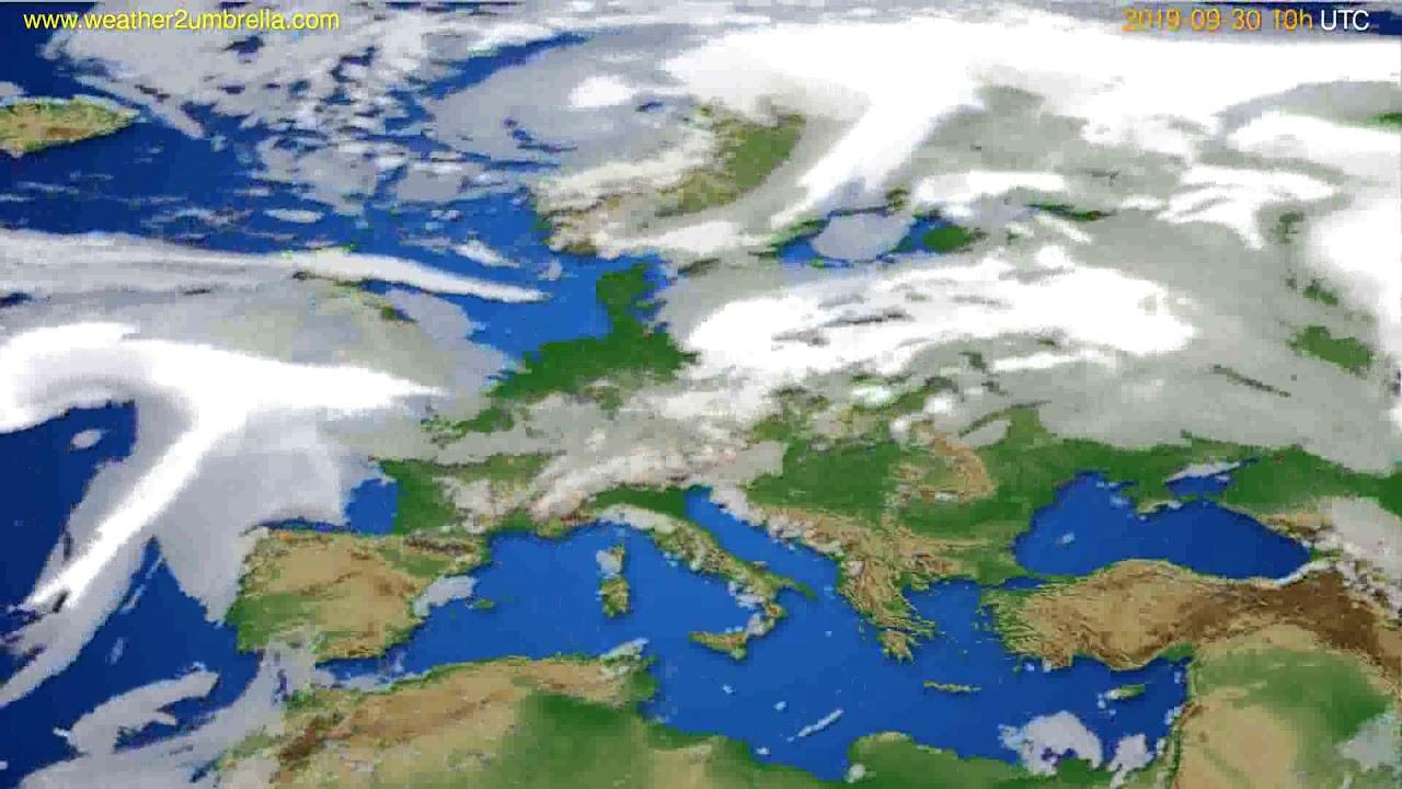 Cloud forecast Europe // modelrun: 00h UTC 2019-09-28