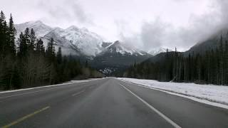 Hinton (AB) Canada  city photo : Jasper to Hinton, Alberta on Yellowhead Highway Time Lapse Drive