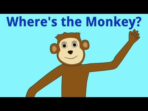Monkey - A song to help children learn prepositions of place. This song was written and performed by A.J. Jenkins. Video by KidsTV123. Copyright 2011 A.J.Jenkins/Kids...