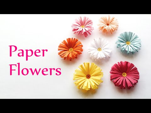 DIY crafts: PAPER FLOWERS (daisies) – Innova Crafts