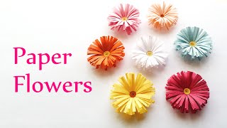 DIY crafts: PAPER FLOWERS (daisies) - Innova Crafts - YouTube